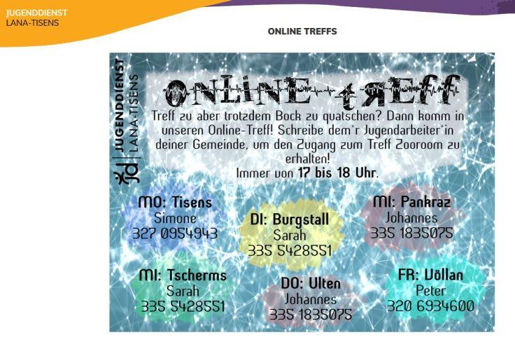 Jugendtreff Online Corona